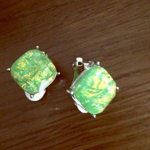 Jewelry - Emerald clip on earings